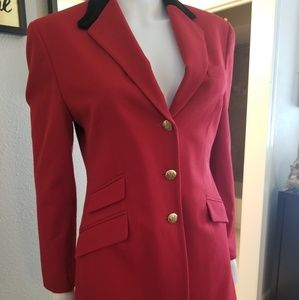 Ralph Lauren red wool with velvet color